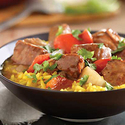 Spanish Pork and Fennel Stew with Saffron Rice